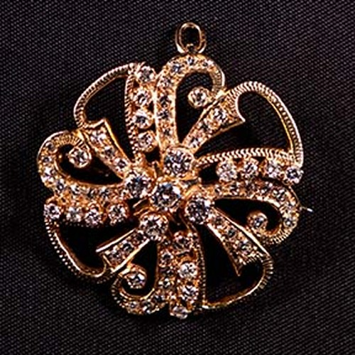 14 Kt Antique Diamond Brooch/Pin
