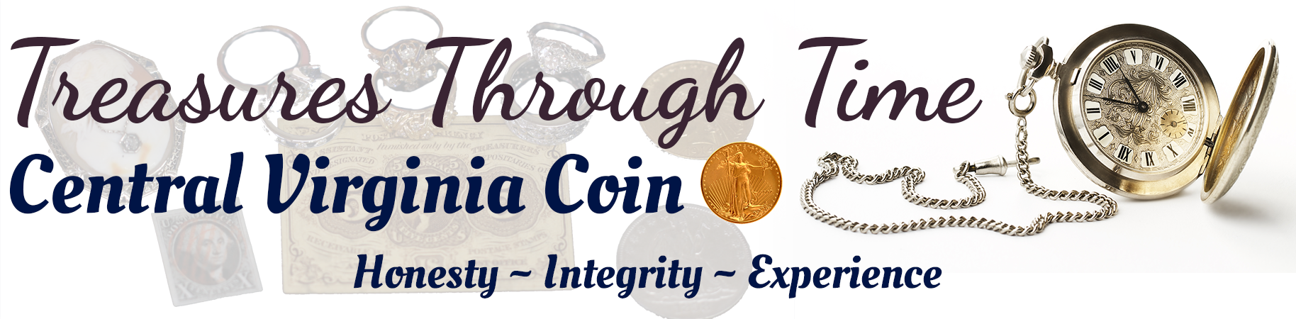 Treasures Through Time - Central Virginia Coin, Logo