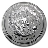 2012 Australia 10 Oz silver year of the dragon