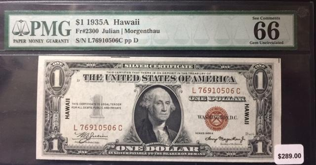 1935 A Hawaii Fr# 2300 Julian / Morgenthau