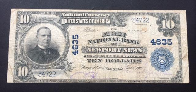 $10 1902 First National Bank of Newport News VA